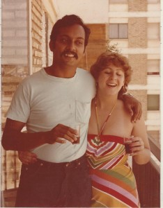 Long ago, Susan and Govind enjoy a glass of wine in Seville, away from unfriendly barmen.