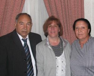 Me, Pastor Pepe, and his Wife, Pura